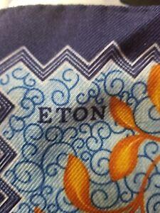 Eton Men's Pocket Square Hand sewn