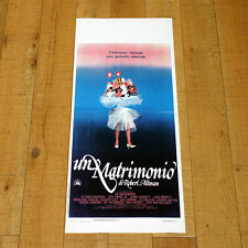 UN MATRIMONIO locandina poster a Wedding Altman Geraldine Chaplin Gassman AK27
