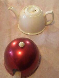 English Teapot With Aluminum Cozy