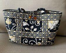 Vera Bradley Black White & Yellow Birds Tote Bag
