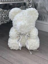 Forever Lasting Rose Flower Bear - White (all Colours Available)