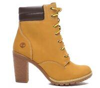 Timberland Women's Tillston 6 inch High Heel Wheat Leather Boots Style A1KJH