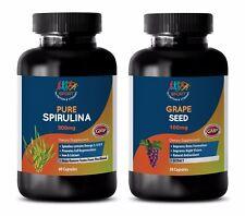 antioxidant complex - SPIRULINA – GRAPE SEED EXTRACT COMBO 2B - grape seed liqui