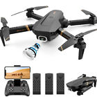 4DRC-V4 Quadcopter Drone With HD Camera Selfie WiFi FPV Foldable RC 3 Batteries