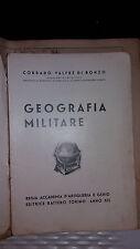 ACCADEMIA MILITARE D'ARTIGLIERIA E GENIO-TORINO-1933-LIBRO E TAV. GEOGRAFIA-AOI