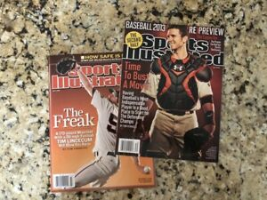 Buster Posey 13 & Tim Lincecum 08 Sports Illustrated NEWSSTAND COPY NO LABEL