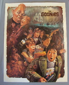MINT 1985 The Goonies Vintage Promotional Movie Poster by Greg Winters NOS