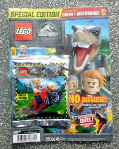 LEGO JURASSIC WORLD MAGAZINE ISSUE #14 ~  2021 ~ NEW WITH OWEN & MOTORBIKE ~