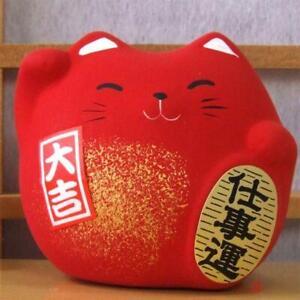 Maneki Neko Feng Shui Lucky red cat for protection