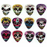 12 Pack SKULLS Tattoo Barbed Wire Bullet CRAZY SKULL Medium Guitar Picks