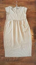 MASAI STRIPED STRETCH JERSEY SMOCK DRESS SIZE M 12 14 LAGENLOOK LAYERING QUIRKY