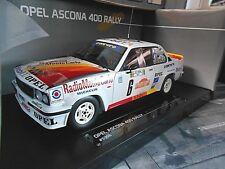 OPEL Ascona B 400 Rallye San Remo 1980 #6 Tony / Rudy Radio Monte Sunstar 1:18