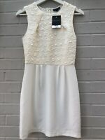 NEW TOPSHOP SIZE 8 Cream Shift Dress RRP£46 Sleeveless