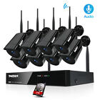 8CH 1080P Wireless Audio Home Outdoor CCTV Security Camera System WIFI NVR Lot