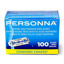 Personna 100ct Double Edge Stainless Steel Razor Blades