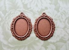 25mm x 18mm Rose Gold Ox Victorian Settings (2) - RGS5412