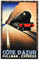 France Vintage Poster.Pullman Train.Home art Decor House Interior Design.843i