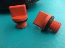 "2 Heavy Duty Swimming Pool Spa Pump Filter 1/2"" NC Drain Plug O-Ring Orange .05"