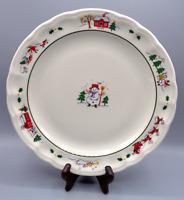 """Vintage Pfaltzgraff Snow Village Dinner Plate 11"""""""