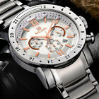 MEGIR Men Luxury Watches Military Chronograph 6 Hands 24 Hours Stainless steel