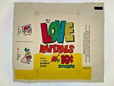More details for 1969 topps love initials 10c stickers bubble gum wax wrapper - fcc