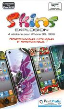 4 Feuillets mobiles - Skins Explosion pour iPhone 3G, 3GS - NEUF