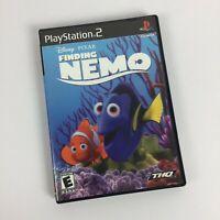 Finding Nemo Disney Pixar PlayStation 2 PS2 Black Label Video Game Complete