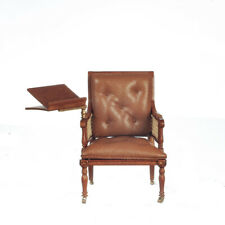 1/12  Dolls House  Easy Arm Chair with Book stand on arm