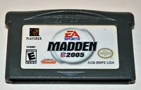 MADDEN NFL 2005 NINTENDO GAMEBOY ADVANCE SP GBA