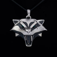 Cat School Medallion Pendant, Witcher, white bronze, handmade, Ciri's Medallion