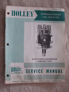 1958 HOLLEY 1324, 1348, 1352 DISTRIBUTOR SERVICE MANUAL