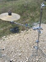 "Free P&P. 8"" Splash Cymbal w Pearl Boom Arm and. Clamp. CCS9040212"