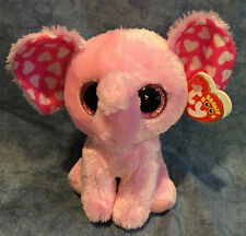 Ty Beanie Boos Regular Valentine Sugar The Pink Elephant 15cm Bday Feb 18