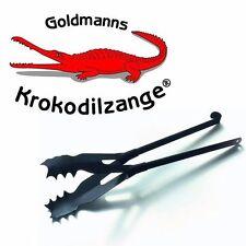 Das Original - Goldmanns Krokodilzange -  bissige Kaminzange m. Einhandbedienung