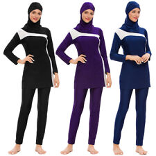Muslim 3pcs Women Swimsuit Hijab Swimwear Zipper Printed Burkini Bathing Suit