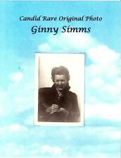Candid Rare Photo Ginny Simms Original Actress Big Band Singer World War II