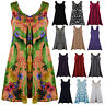 Ladies Womens Sleeveless top New PLUS SIZES Blouse Summer Mini Dress Tops Beech