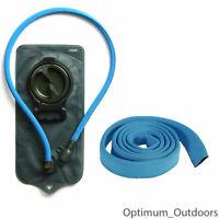 Blue Insulated Neoprene Hydration Tube Hose Cover Sleeve Camelbak Thermal Skin