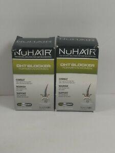 LOT OF 2 NuHair DHT BLOCKER Hair Rejuvenation Men & Women EXP 2/22. (60 CT EACH)