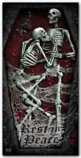 Spiral Direct REST IN PEACE - Bath Towel 27x55 Inches Skulls/Bones/Wash Cloth