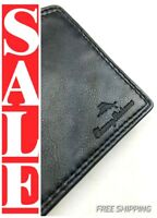 TOMMY BAHAMA Mens JAMAICA Premium SOFT BLACK LEATHER Slim Bi-fold Wallet $60