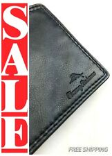 TOMMY BAHAMA Mens JAMAICA Premium SOFT BLACK LEATHER Slim Bi-fold Wallet $60