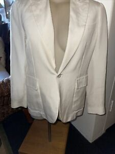 DSQUARED2 Made In Italy Fabulous Ivory Silk/Cotton Jacket 44 12