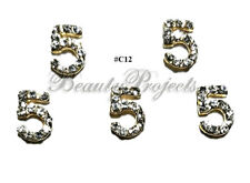 5pc Nail Art Charms 3D Nail Rhinestones Decorations Jewelry DIY Bling - C12