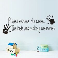 Kids are making Memories Wall Sticker Wall Decal for Kids playing room PVC decor