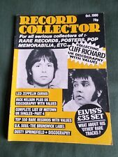 RECORD COLLECTOR  MAGAZINE- OCT 1980 - CLIFF RICHARD- ELVIS -DUSTY SPRINGFIELD