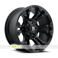 Fuel D56020909850 Single Black Matte Vapor 20x9 +1 mm Offset 8X165 Rim