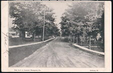 THOMPSON PA Jackson Street Antique B&W Town View Postcard Old Pennsylvania Vtg