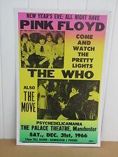 Vintage Who and Pink Floyd Concert Poster 1966 Manchester UK