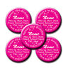 Personalised Pink Star Birthday Pin Badges 18th,21st,30th,40th,50th any age